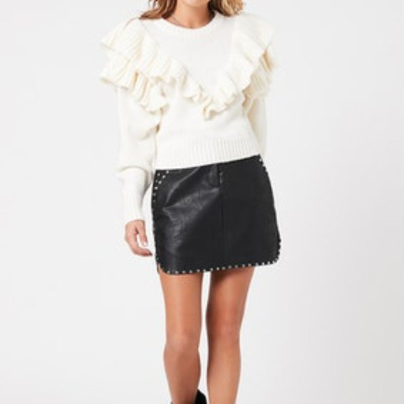 Nikkita Studded Leather Skirt